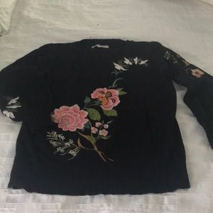 Sweaters - Floral Embroidered sweater